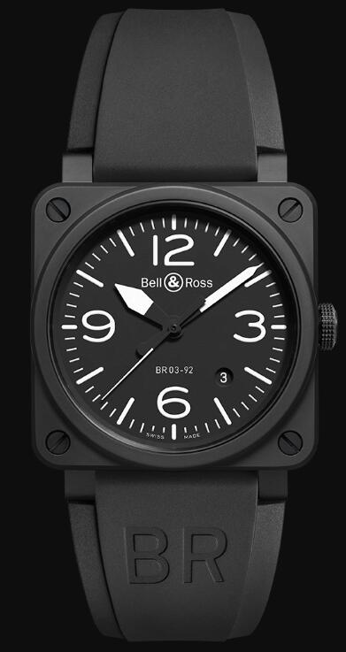 Bell & Ross BR 03-92 BLACK MATTE BR0392-BL-CE Replica Watch
